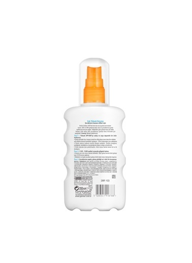 Garnier Ambre Solaire Sensitive Advanced Çocuk Sprey Gkf50+  200Ml Renkli